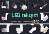3 FASE LED RAILSPOT Prof. 40w Black Body 3000k/Warmwit_
