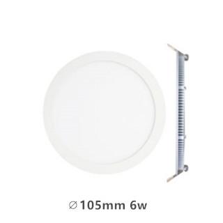LED downlight inbouwpaneel rond Excellence 6w 4000k/Neutraalwit incl. 1,5m netsnoer