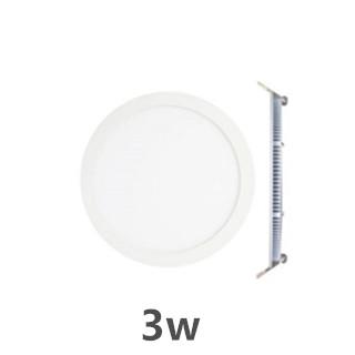LED downlight inbouwpaneel rond Excellence 3w 3000k/warmwit incl. 1,5m netsnoer