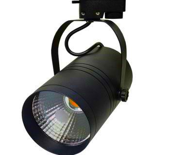 BASIC 1 FASE LED TRACKLIGHT 25W BLACK BODY 2800k/Warmwit