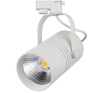 BASIC 1 FASE LED TRACKLIGHT 25W WHITE BODY 4500k/Neutraal wit