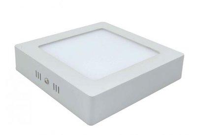 18W LED downlight opbouwpaneel vierkant 225x225mm 4500k/neutraalwit
