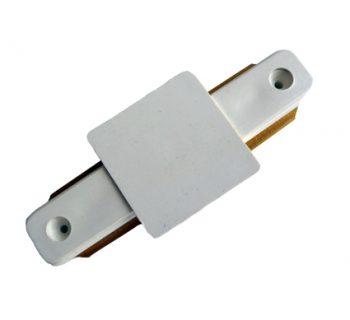 1 Fase Rail connnector rechtverbinder wit