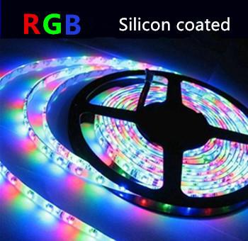 LED STRIP RGB Silicon 24v SMD5050 60 LEDs/m 5 meter rol