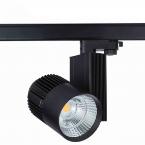 3 FASE LED RAILSPOT Prof. 50w Black Body 3000k/Warmwit