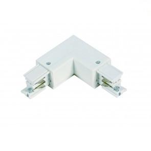 L-vorm connector   *** 3 fase rail - wit