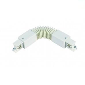 Flexibele connector  * 3 fase rail - wit