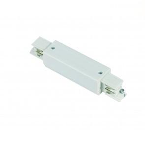 I-vorm connector * 3 fase rail - wit