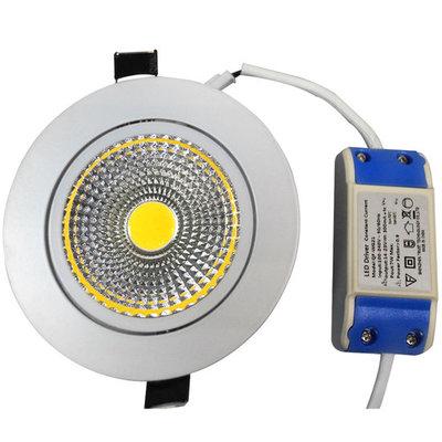 LED COB INBOUWSPOT 7W 3000K/WARMWIT