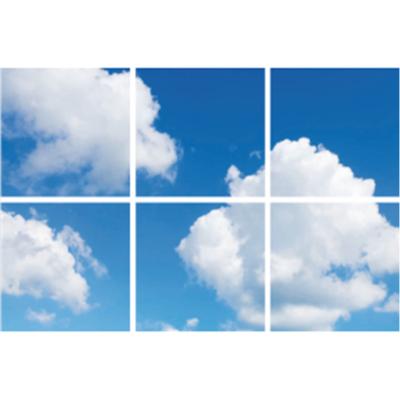 Wolken plafond complete fotoprint met 6 LED Panelen 36w flikkervrij