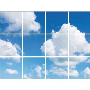 Wolken plafond complete fotoprint met 12 LED Panelen 36w flikkervrij