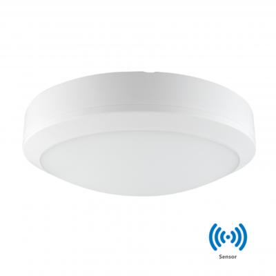 LED PLAFONDLAMP met Sensor 30cm IP65 20W 3000k/Warmwit