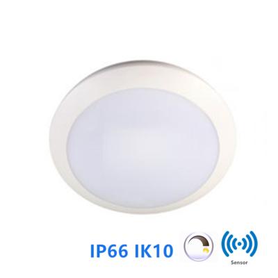 Led plafonnière 16W Ø300mm IP66 IK10 met dimfunctie 3000k/warmwit *multifunctionele sensor