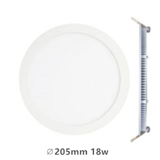 LED downlight inbouwpaneel rond Excellence 18w 3000k/warmwit