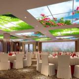 Wolken plafond complete fotoprint met 4 LED Panelen 36w flikkervrij _