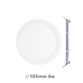 LED downlight inbouwpaneel rond Excellence 6w 3000k/warmwit incl. 1,5m netsnoer