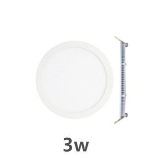 LED downlight inbouwpaneel rond Excellence 3w 3000k/warmwit incl. 1,5m netsnoer