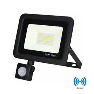 SMD LED  floodlight met sensor 30W 4000k/Neutraalwit IP66 waterdicht