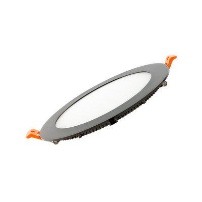 Ultra Slim LED inbouwpaneel 18W Rond Ø225 4000k/Neutraalwit *zwart
