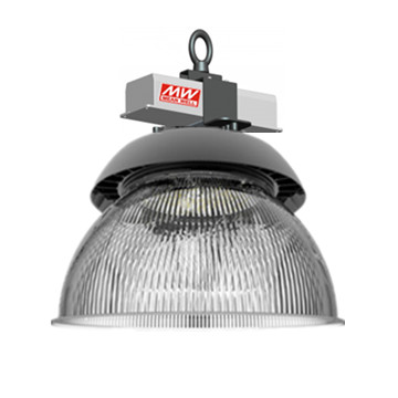 UFO LED high bay lamp 100w 135lm/w met REFLECTOR 60° 5500k/daglicht *dimbaar