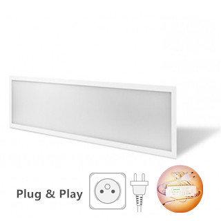 LED Paneel 120x30cm Basic complete incl. Netsnoer 6000k/daglicht