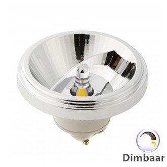 LED AR111 GU10 SPOT 45° DIMBAAR witte 12W 2700k/Warmwit