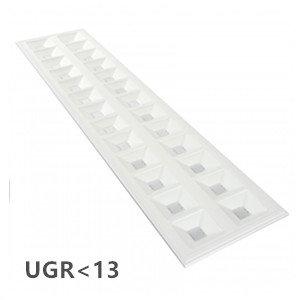 LED PANEEL GRILLE 30x120cm UGR 13 3000k/warmwit 36w *flikkervrij