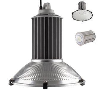 LED klokarmatuur high bay 100w 5000k/helder wit 135lm/w ALU reflector 90°