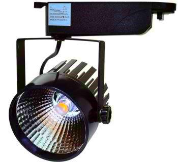 BASIC 1 FASE LED TRACKLIGHT 12W BLACK BODY 2800k/Warmwit