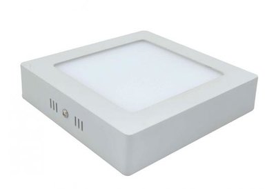 18W LED downlight opbouwpaneel vierkant 225x225mm 4500k/neutraalwit