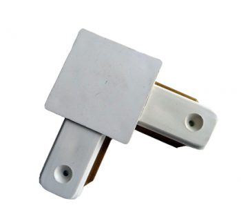 1 Fase Rail connnector L-hoekstuk wit
