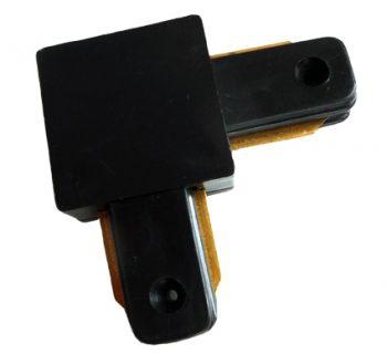 1 Fase Rail connector L-hoekstuk zwarte
