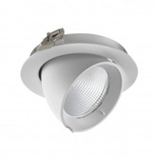 LED DOWNLIGHT KANTELBAAR Ø145 24W-3000k/warmwit