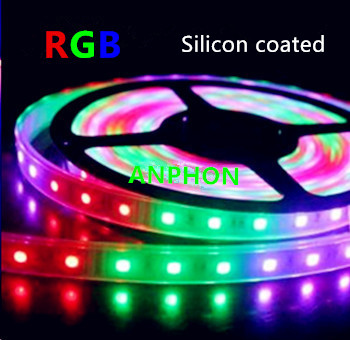 LED STRIP RGB Silicon 12v SMD5050 60 LEDs/m 5 meter rol
