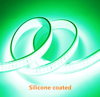 Silicone LED STRIP Green 12v  SMD 2835 60 LEDs/m  5 meter roll