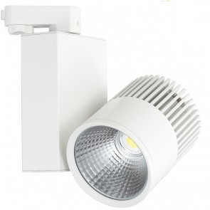 Basic 3 FASE LED RAILSPOT 30w WHITE BODY 3000k/warmwit