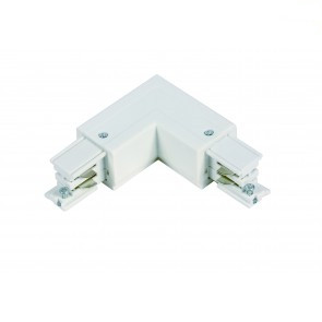 L-vorm connector   *** 3 fase rail - wit