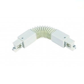 Flexibele connector  * 3 fase rail - wit