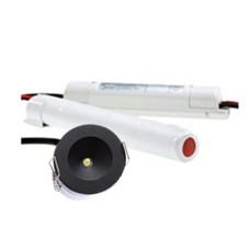 Premium Eye led noodverlichting 3W  Ø42,5mm 110lm zwart afdekring