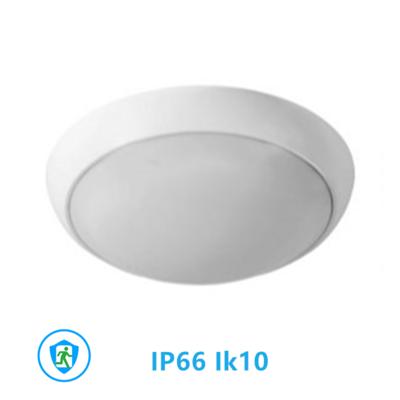 Led plafonnière 18W Ø330mm IP66 IK10 3000k/warmwitincl. noodunit