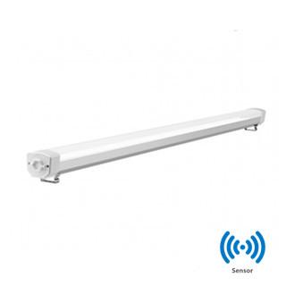 LED Tri-proof light  Prof. ALU.  Sensor 150cm 60w 6000k/koelwit IP65 IK10