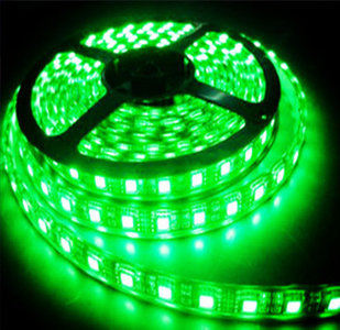 LED STRIP 12v SMD 5050 groen 60 LEDs/m  5 meter rol