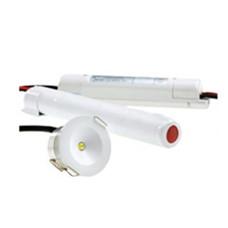 Premium Led noodverlichting 3W inbouwspot Ø42,5mm 110lm wit afdekring